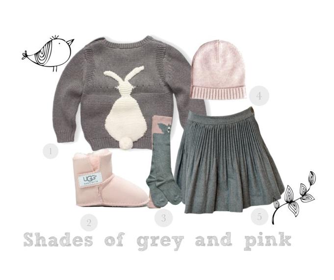 Shades of grey and pink