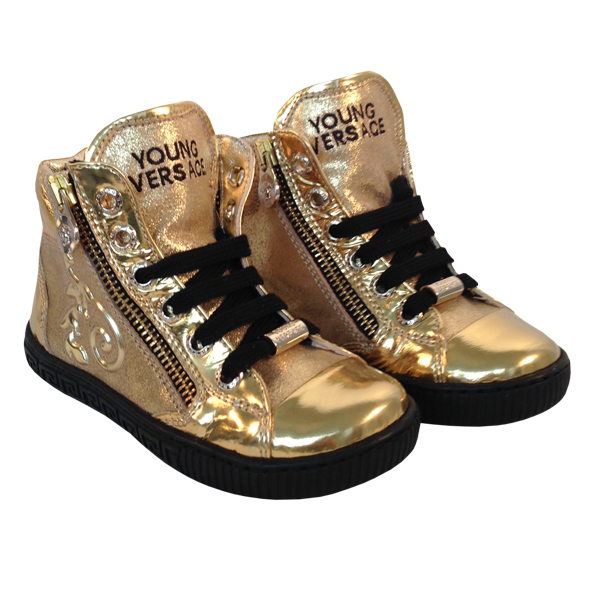 YoungVersaceGirlsSneakersGold1
