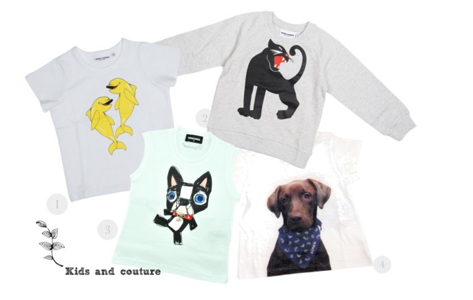 Animal love by kids and couture